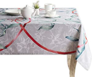 100% Cotton Rectangle Tablecloth 60 Inch by 108 Inch for Kitchen   Home   Dining Room   Tabletop   Decorative   Parties   Weddings   Outdoor   Thanksgiving/Christmas Collection-(Enora)