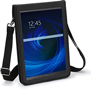 USA GEAR 10 inch Tablet Case - Tablet Holder with Shoulder Strap (Black) Compatible with Apple iPad 2019 and 2018, Samsung Galaxy Tab A 10.1, Tab S3, Tab 4 10.1, Lenovo Tab 4, and More 10 inch Tablets