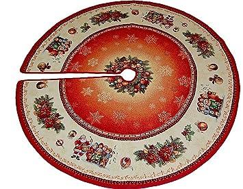 Tischdecke Mitteldecke GOBELIN Tischdeckchen DEKO Decke WEIHNACHTEN rot 100x100