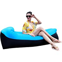 HAKE Inflatable Lounger Air Sofa Chair with Pillow & Storage Bag