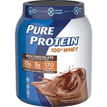 top best Pure Protein 100% Whey Powder Rich Chocolate