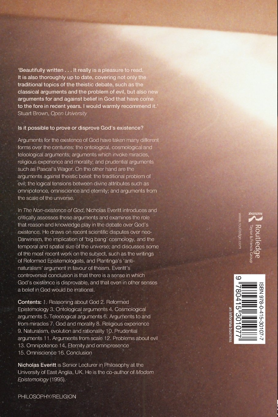 the non existence of god co uk nicholas everitt the non existence of god co uk nicholas everitt 9780415301077 books