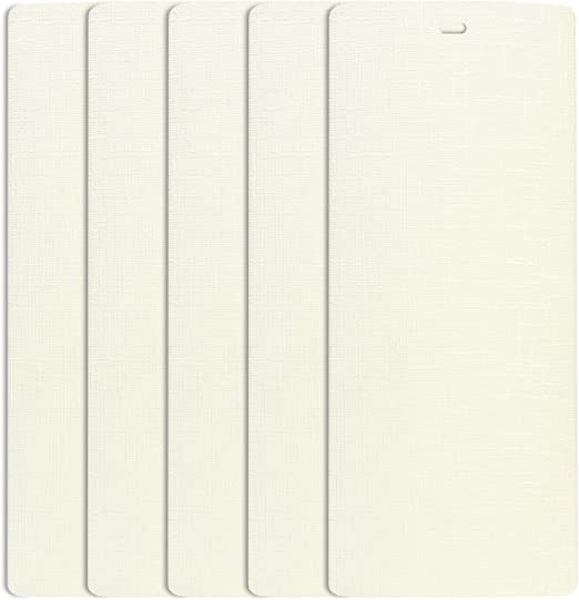 """Vertical Blind Slats Vanes Replacement Small Office Windows 42.5/"""" x 3.5/"""" White"""