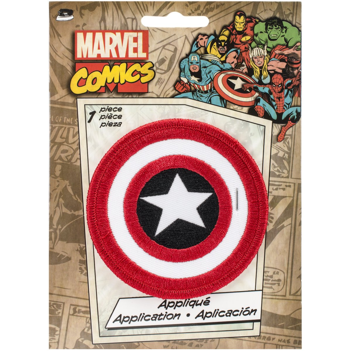 Marvel Comics Patch-Retro Captain America Shield 3' Round Officially Licensed & Trademarked Products P-MVL-0002