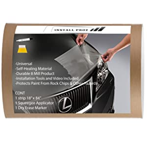 "Install Proz Self Healing Universal Clear Paint Protection Bra Hood and Fender Kit (18"" x 84"")"