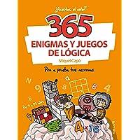 365 enigmas y juegos de lógica: Para niños y niñas. Acertijos divertidos y Retos de ingenio para aprender en Familia…