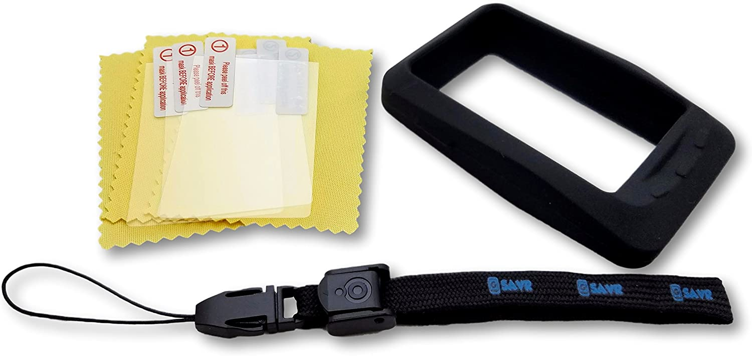 Freedom Bike Wahoo ELEMNT, ELEMNT Bolt, ELEMNT Roam, or ELEMNT Mini Ultimate Protection Bundle - Includes G-SAVR Lanyard - Tether, Molded Protective Silicone Case, and 3 Screen Protectors