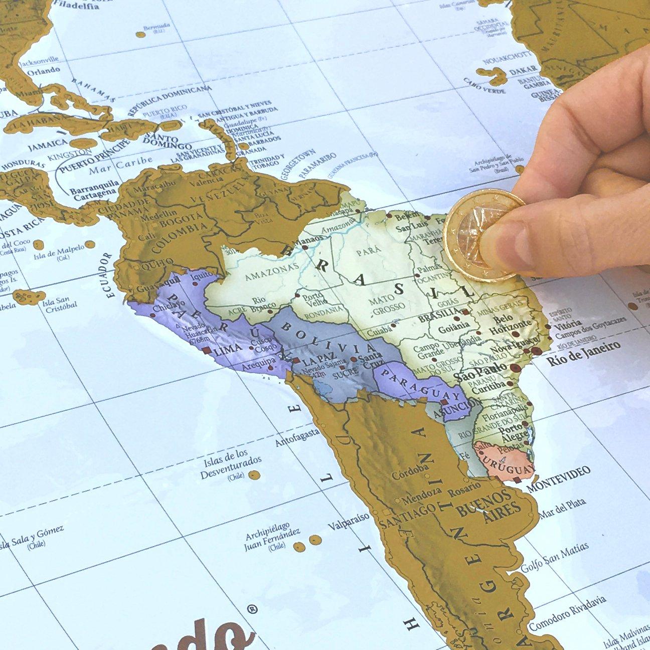 Scratch Off USA Map Poster | USA Flag Scratch Map | Scratch Off ...