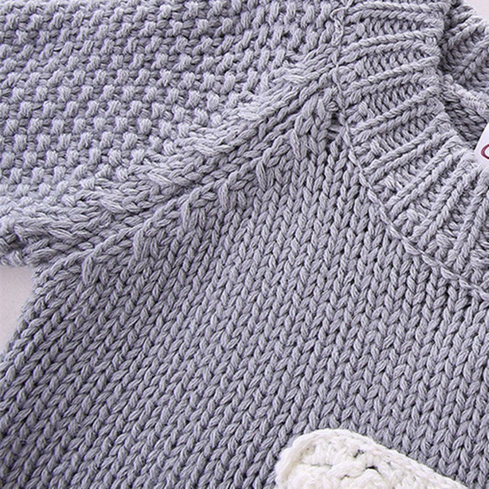 LittleSpring Little Girls' Sweater Long Sleeve Size 2T Grey by LittleSpring (Image #3)
