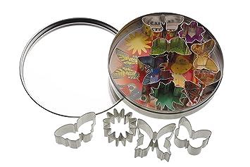 Kitchen Craft - Moldes para galletas (11 unidades), diseño de mariposas y flores: Amazon.es: Hogar