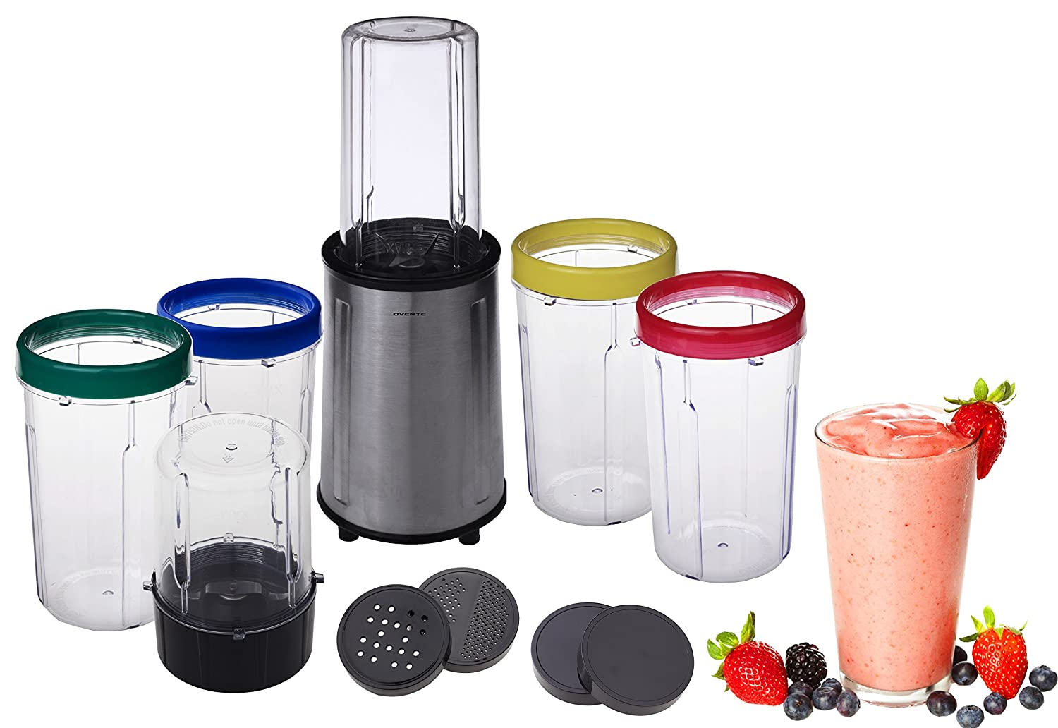 Ovente HS517 17 Piece All-Purpose Flash Blender Set, Stainless Steel