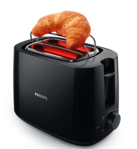 6. Philips Daily Collection HD2583/90 600-Watt 2 in 1 Toaster and Grill (Black)