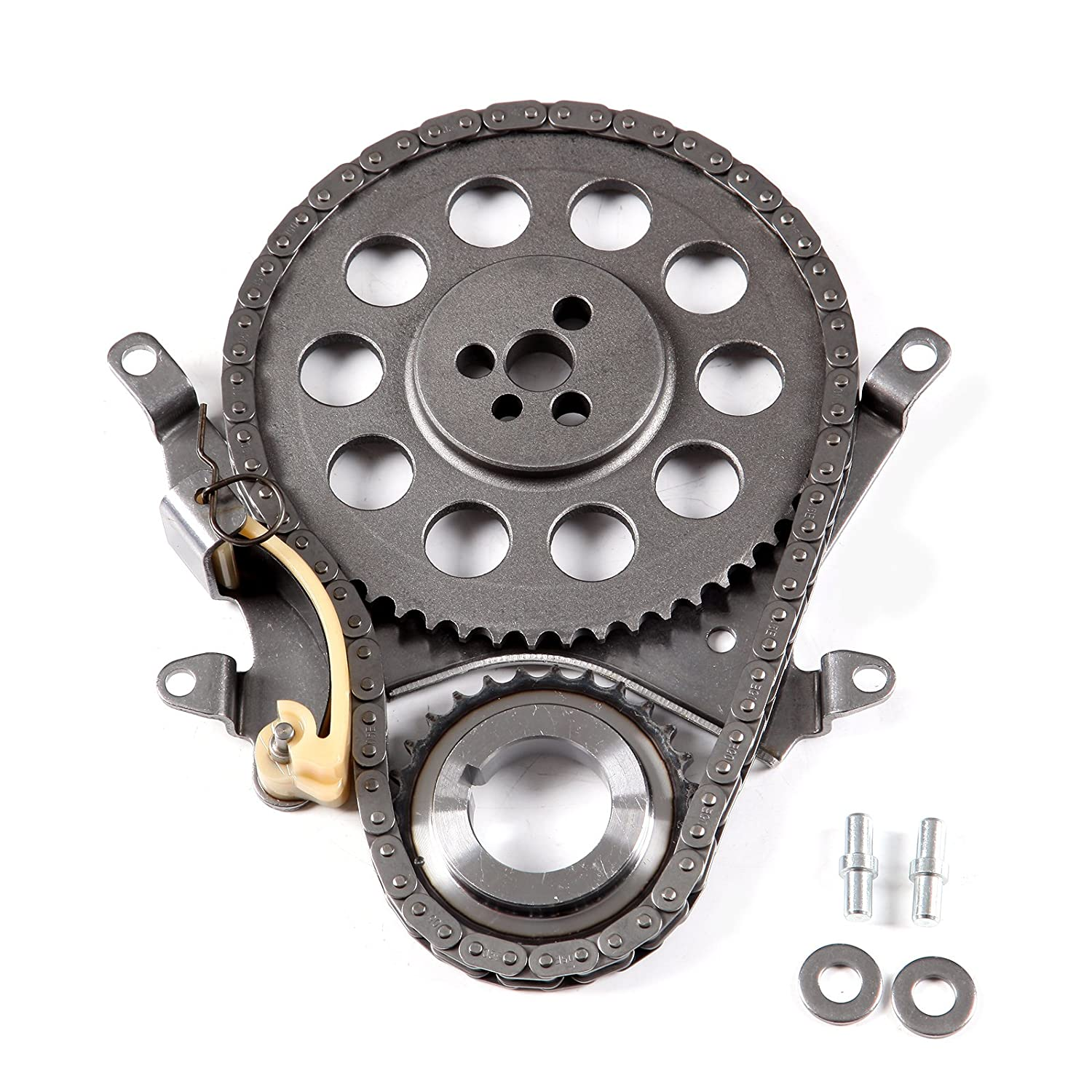 SCITOO TK3129 Timing Chain Kit Timing Rail Timing TENSIONER Crank Sprocket Cam Sprocket Compatible 99-07 GMC Safari Savana Chevrolet Silverado S10 4.3L OHV 053950-5206-1504471