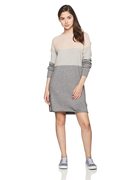 ONLY Damen Onllillo L//S Dress KNT Noos Kleid