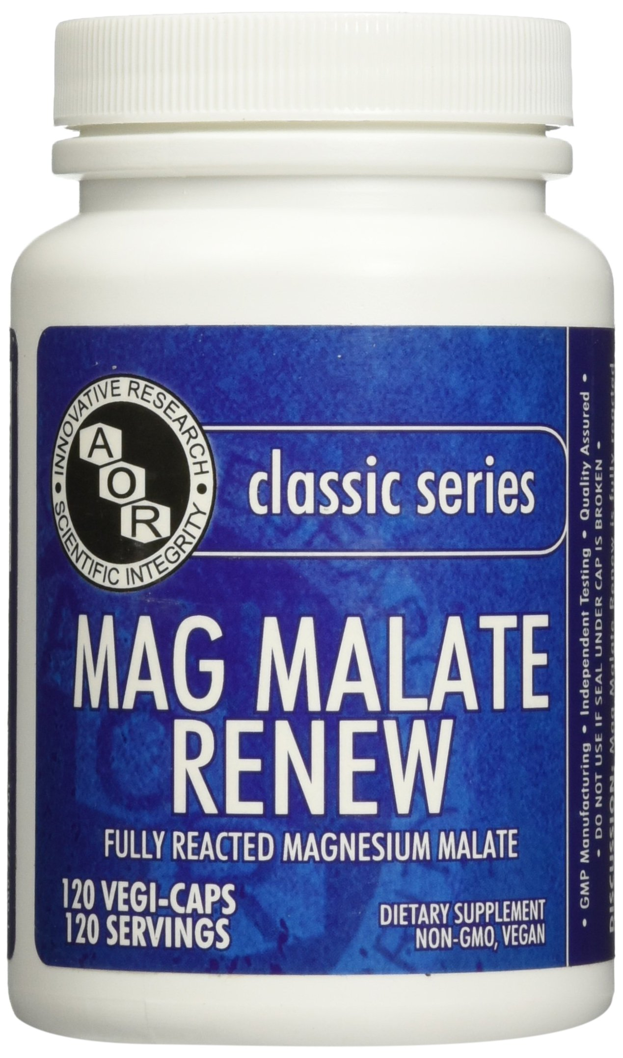 Advanced Orthomolecular Research AOR Mag Malate Renew Capsules, 120 Count