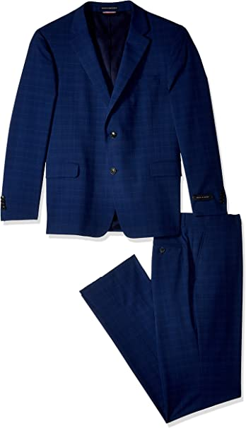 Tommy Hilfiger Mens Modern Fit Performance Suit with Stretch