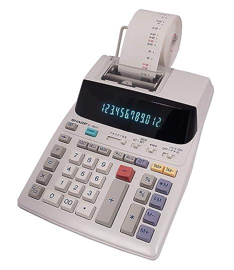 Sharp EL-1801V Two-Color Printing Calculator 2 1 Lines/Sec 4