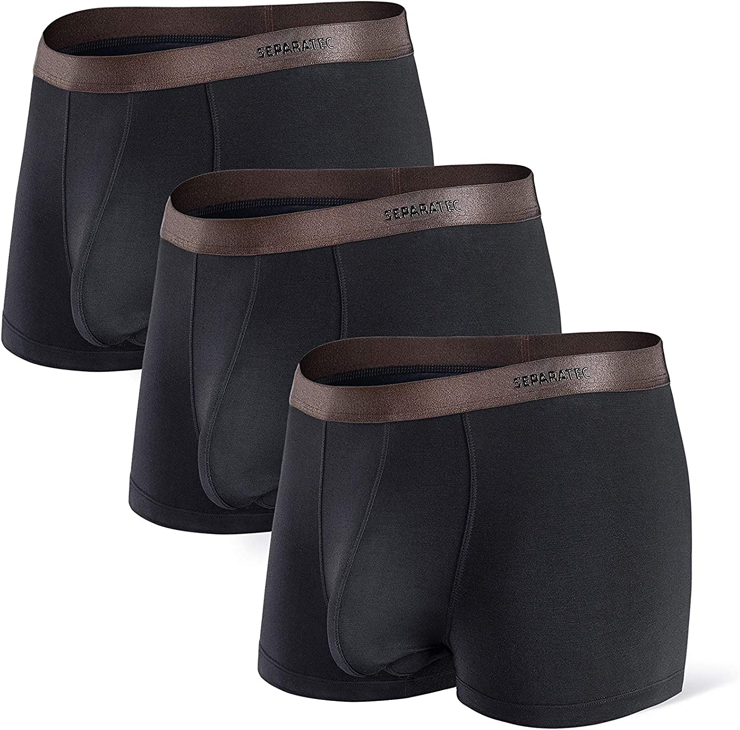 Separatec Bamboo Rayon Briefs 3 Pack Soft Breathable Dual Pouch Mens Underwear