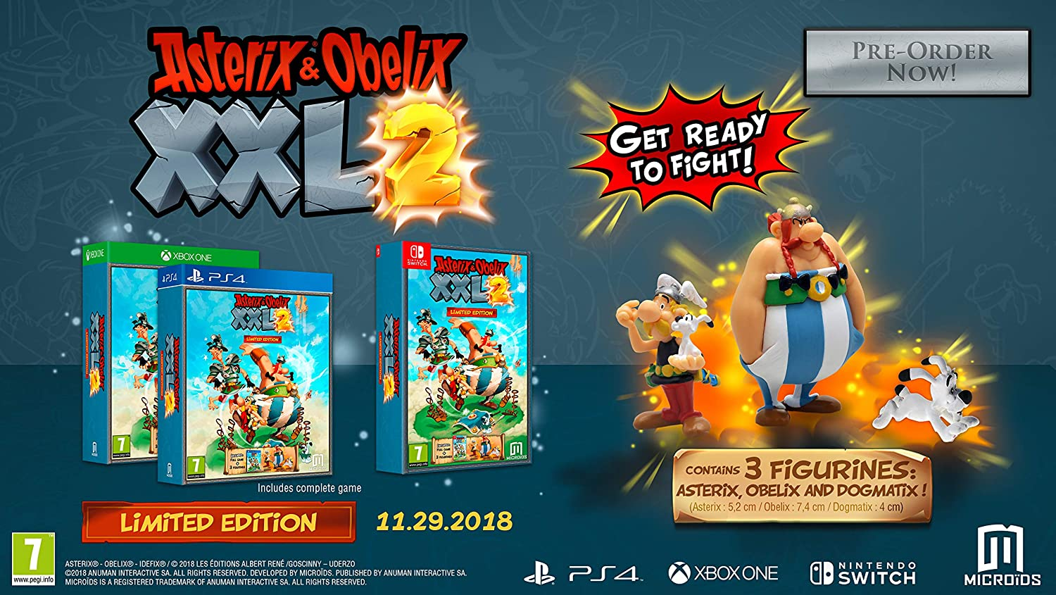 Amazon Com Asterix And Obelix Xxl2 Limited Edition Nintendo Switch