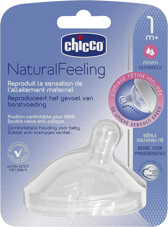 Chicco 81111100030 Naturalfeeling T/étine Inclin/ée Flux Lent Plus de 0 Mois
