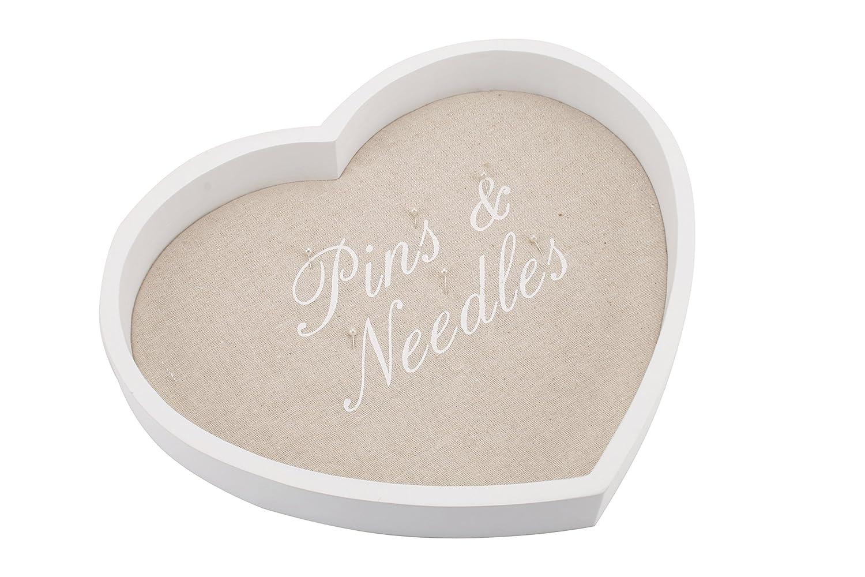 'Pins & Needles' White Wood Tray