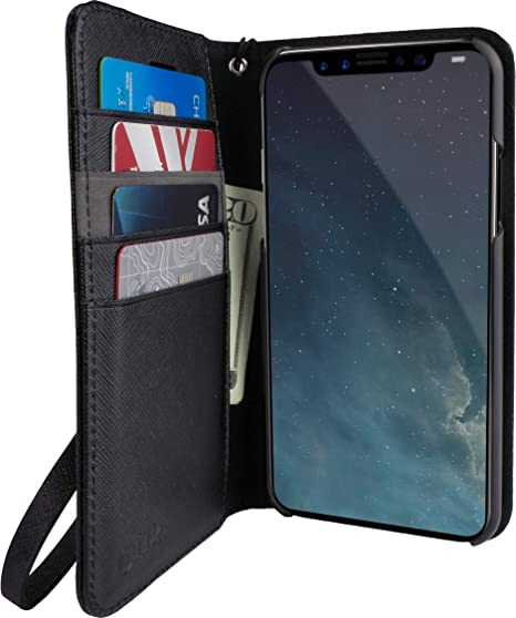 purchase cheap 0f63f e3e68 Smartish iPhone XR Wallet Case - Keeper of The Things - Folio Wallet  Synthetic Leather Portfolio Flip Credit Card Cover with Kickstand (Silk) -  Black ...