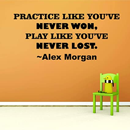 Amazon.com: Alex Morgan Soccer Quotes For Girls Bedroom ...