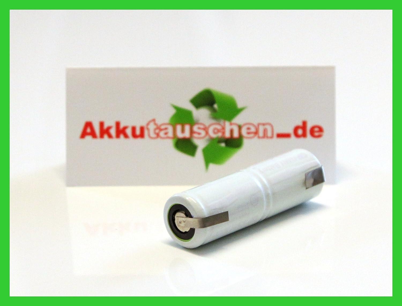 NiMH Akku 2,4 Volt 1100mAh 2//3A mit Lötfahnen U-Form für elektrische Zahnbürste