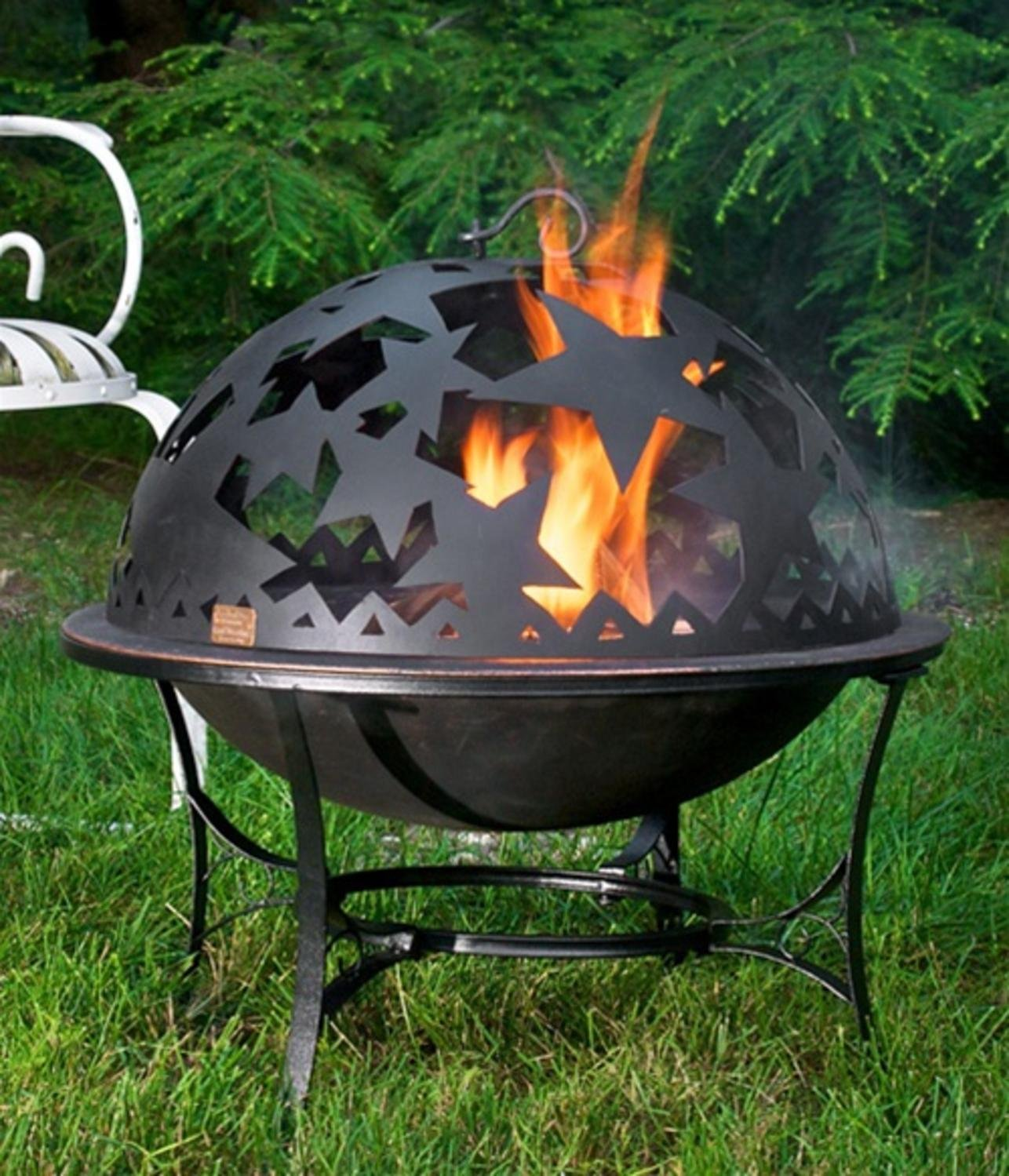 Handcrafted Starry Night Steel Fire Dome with Fire Pit