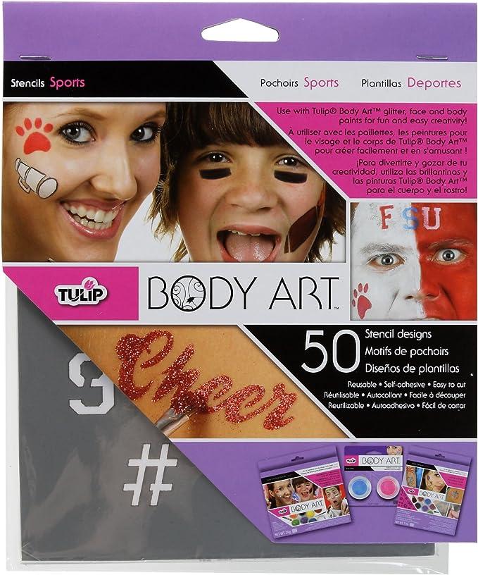 Amazon Com Tulip Body Art Stencil Designs Favorits Arts Crafts Sewing