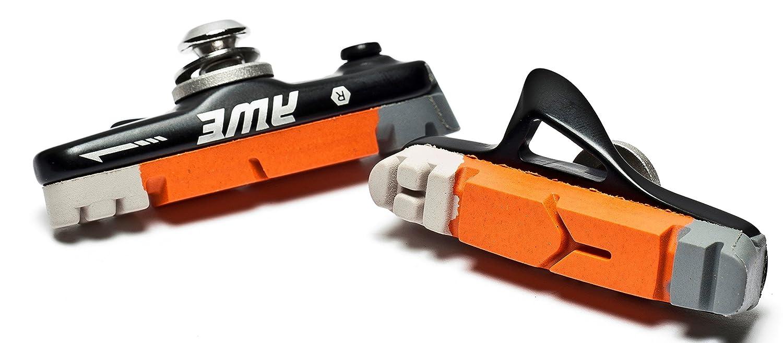 AWE® Road Cassette negro freno bloques gris/naranja/blanco 55mm