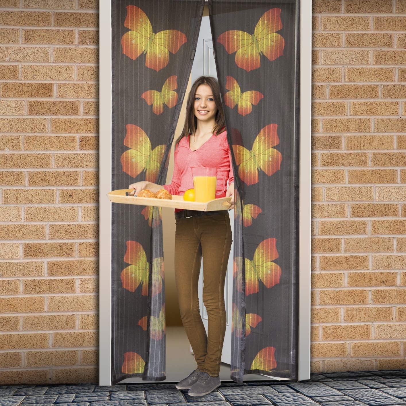 Cierre magn/ético Multicolor Cortina con motivos Mosquitera delight para puertas b/úhos