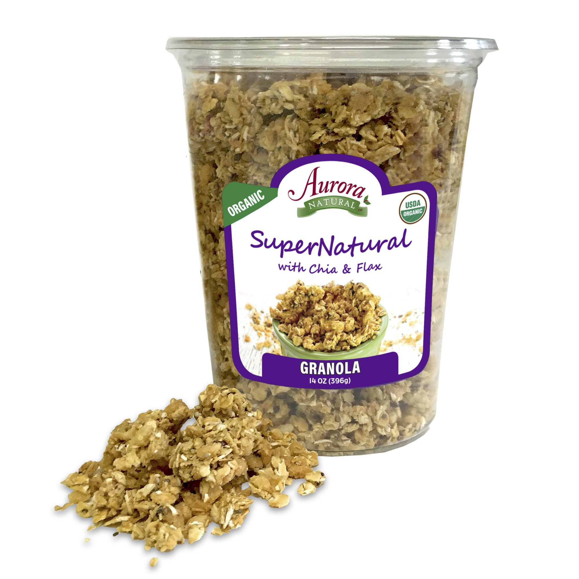 Aurora Natural Products Organic Supernatural Granola With Chia & Flax, 14 Ounce by Aurora Natural (Image #1)