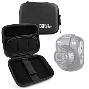 DURAGADGET Premium Quality Black Shock-Absorbent Hard Shell Case - Compatible with The Nextbase in-Car Dash Cam 101|Dash Cam 202 Lite|Dash Cam 512G