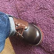 FOOT MATES Connor 9.5 Toddler M//W, Steel//Cognac