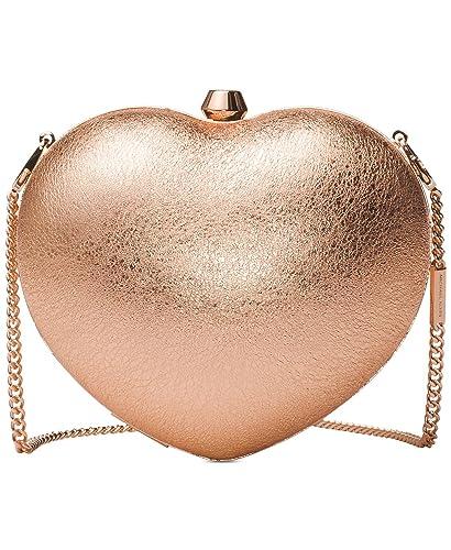 e1ee4e78e9ac Michael Kors Pearlized Small Heart Box Clutch: Handbags: Amazon.com