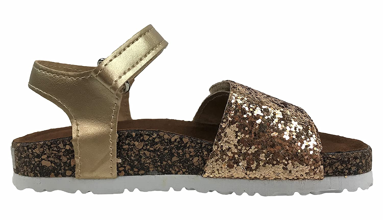 Toddler Infant Kids Basic Summer Wedge Sandals Toddler Infant Kids Basic Summer Wedge Sandals Bethany-2 Gold 5 Girls