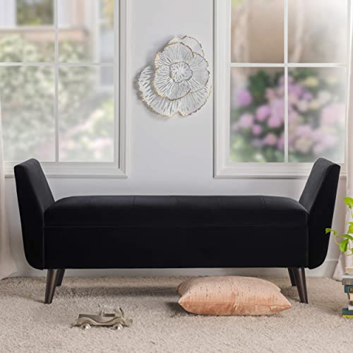 Jennifer Taylor Home Dua Mid-Century Modern Entryway Storage Bench