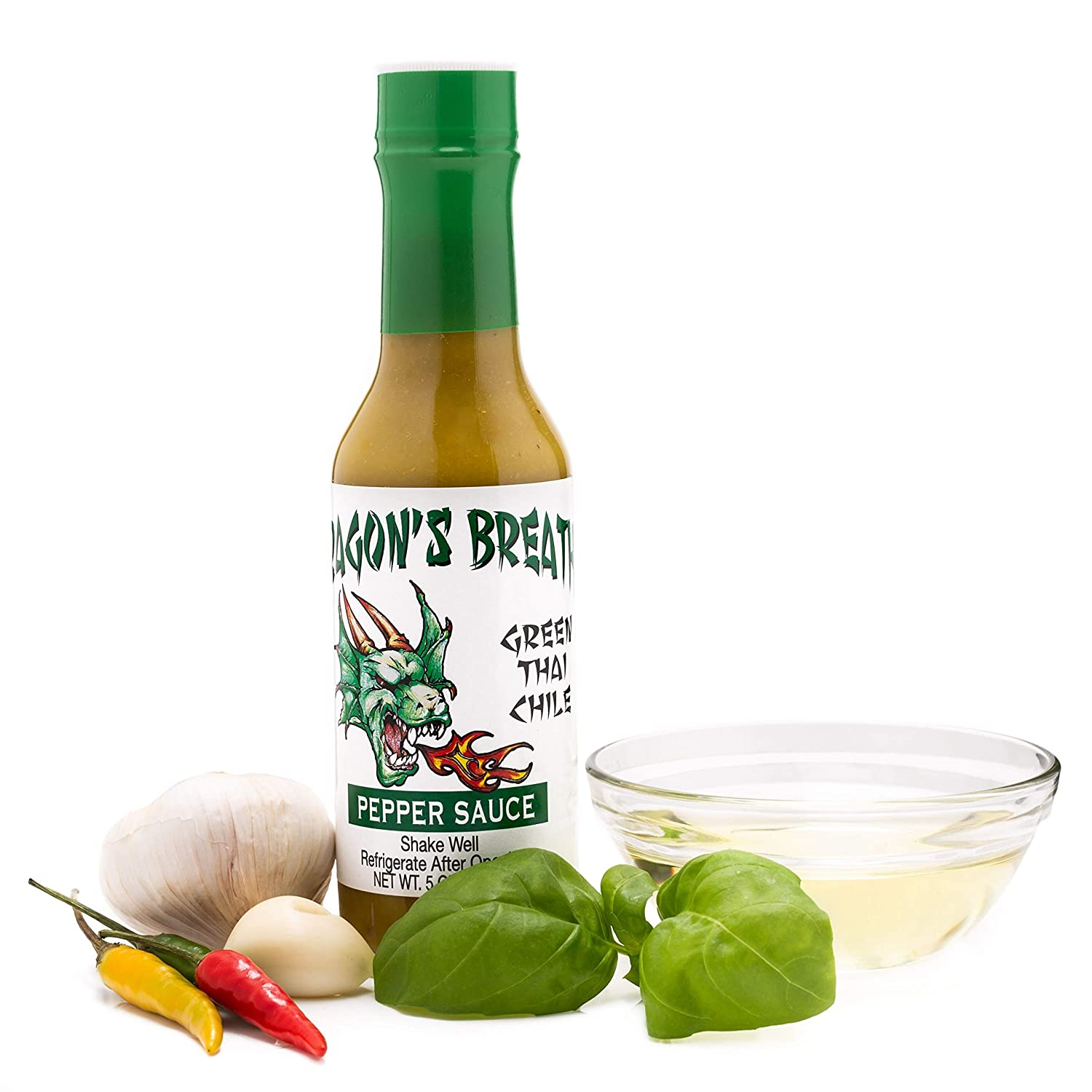 Amazon Com Dragon S Breathe Pepper Sauce Green Thai Chili With Spicy Bold Flavor Made From Exotic Bird S Eye Chili Pepper Grocery Gourmet Food