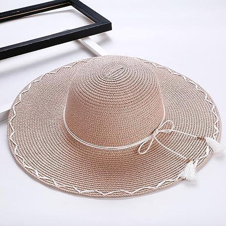 Axiba Grande señora Paja Sombrero Sol Sombrero Verano excursión Costera  Playa Sombrero 5deda01af85