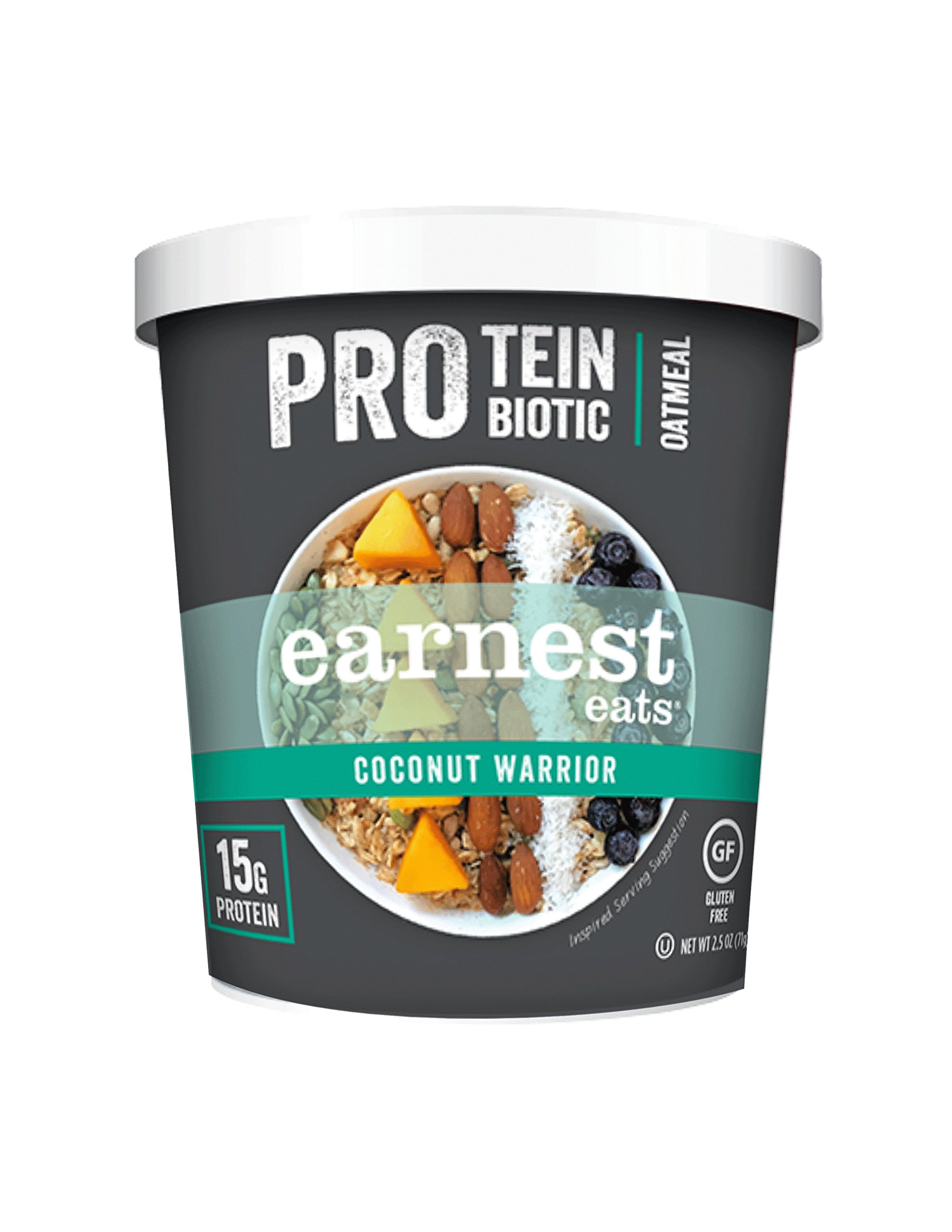 Earnest Eats Pro Protein and Probiotic Oatmeal, Coconut Warrior, 12 Count