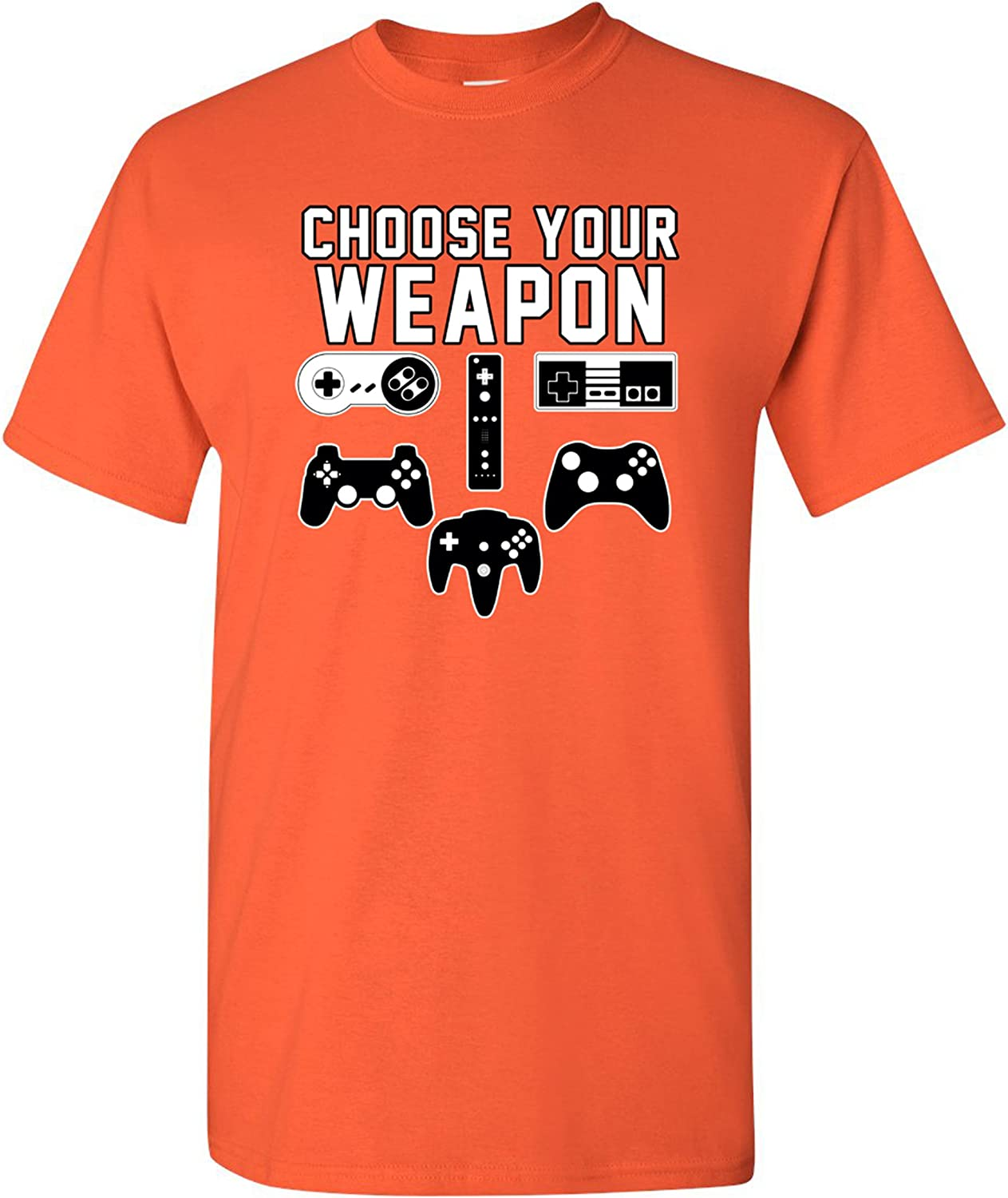 City Shirts Mens Choose Your Weapon Console Gamer Funny DT Adult T-Shirt Tee
