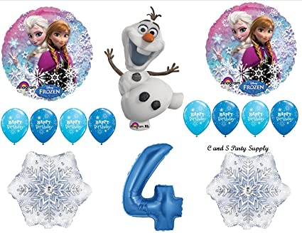 Amazon.com: Frozen azul 4th Disney Película Fiesta De ...