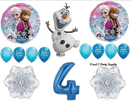Amazon.com: Frozen azul 4th Disney Película Fiesta De ...