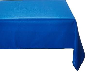 LinenTablecloth 60 X 102 Inch Rectangular Polyester Tablecloth Royal Blue