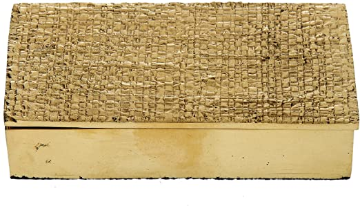 Caja metálica hecho a mano, dorado: Amazon.es: Hogar