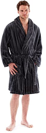 """**NEW** MICHAEL PAUL/"""" MENS HOODED SUPER SOFT/&COSY FLEECE DRESSING GOWN ROBE"""