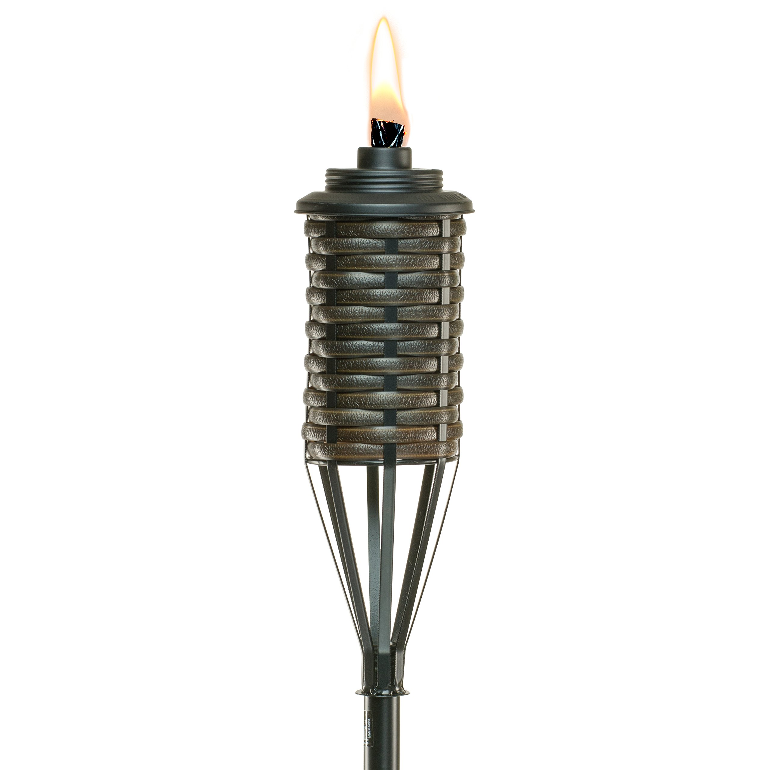 TIKI Brand 65-Inch Bali Metal Torch, Dark Brown by Tiki