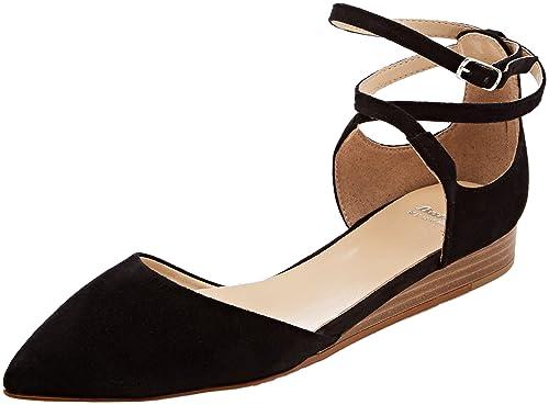 BATA 523239 Ballerine con Cinturino alla Caviglia Donna Nero 36 EU