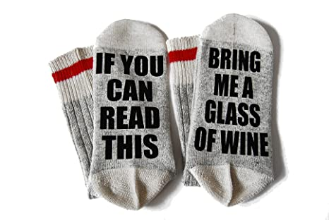 """""""If You Can See This Bring Me Wine Socks"""" $17.99 @ Amazon"""